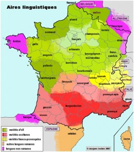 aires linguistiques en France